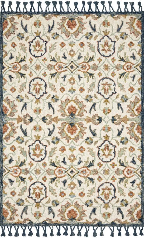111X156 Rug-Magnolia Home Kasuri Ivory/Multi By Joanna Gaines - 360