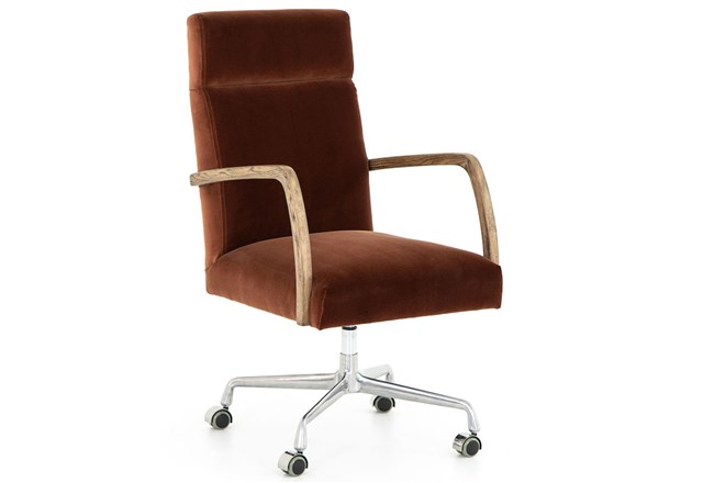 Burnt Auburn Desk Chair - 360