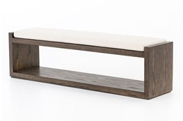 Cedar And Upholstered Bench