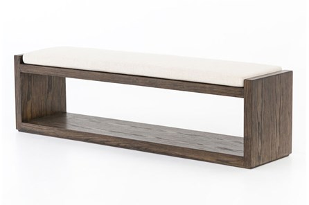 Cedar And Upholstered Bench - Main