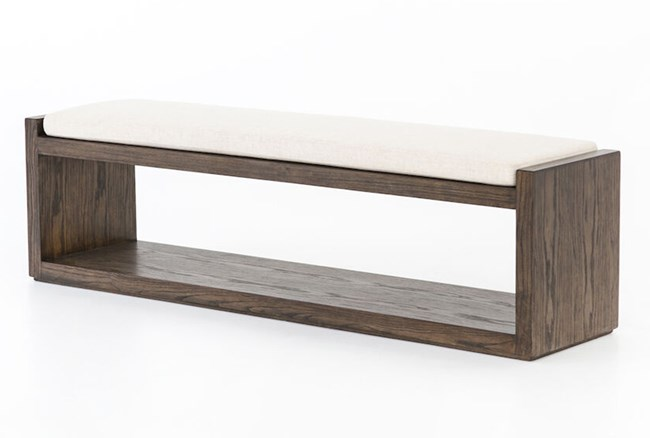 Cedar And Upholstered Bench   - 360