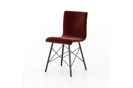 Merlot Velvet Dining Chair