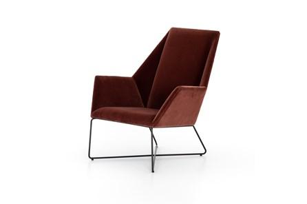Merlot Velvet Chair