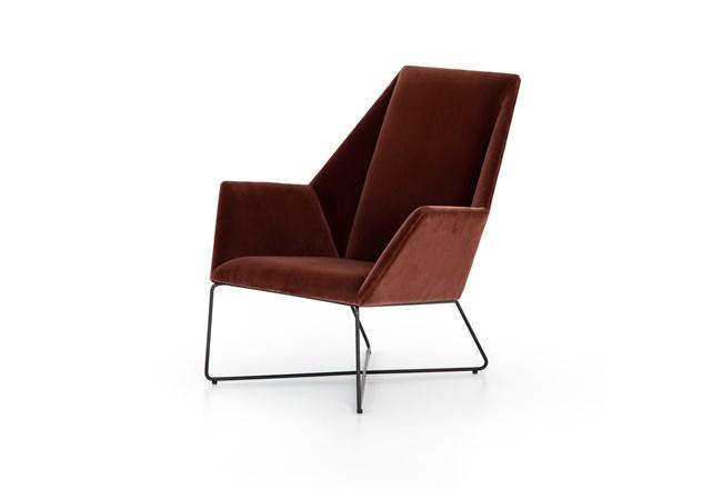 Merlot Velvet Chair - 360