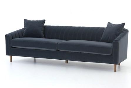 """Modern Velvet Grey 96"""" Sofa"""