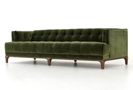 Deep Olive Velvet Sofa