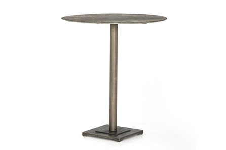 Antique Nickel Counter Table