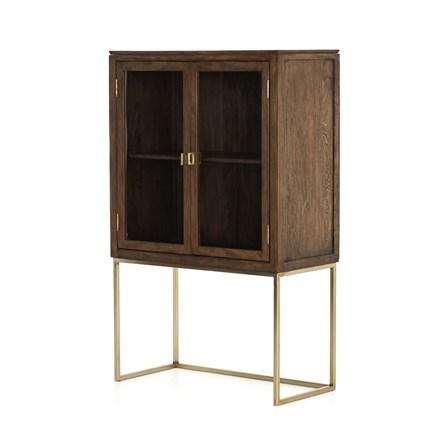 Tall 2 Door Brown Cabinet