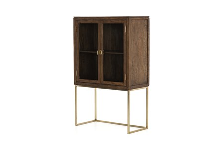 Tall 2 Door Brown Cabinet
