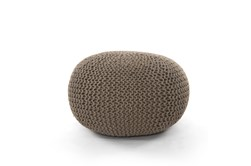 Clay Jute Knit Pouf