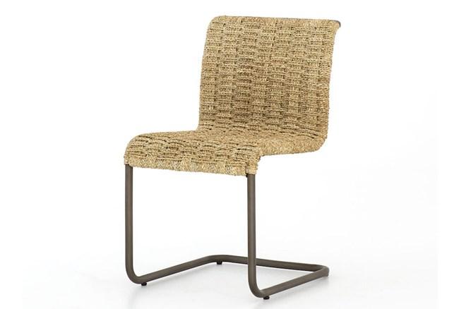 Light Natural Woven Cantilever Chair - 360