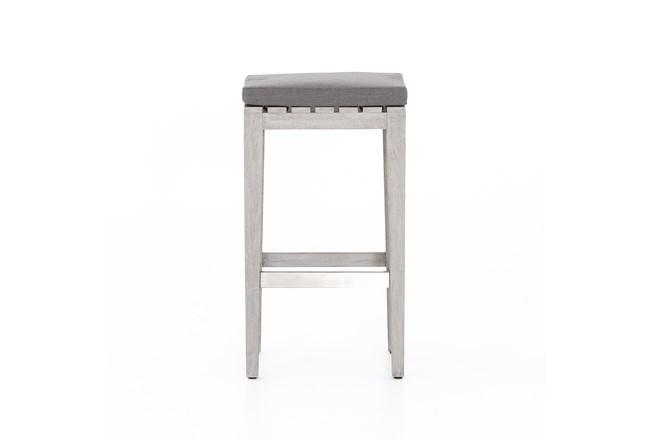 Weathered Grey Outdoor Bar Stool - 360