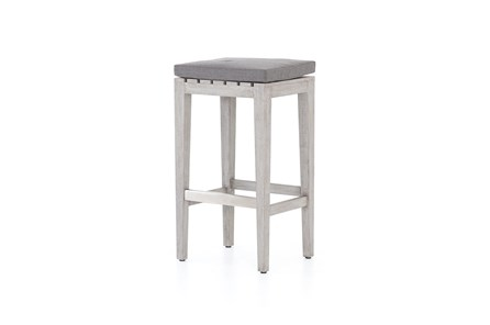 Weathered Grey Outdoor Bar Stool