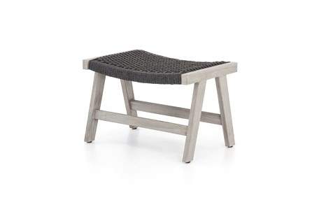 Grey Rope Outdoor Ottoman