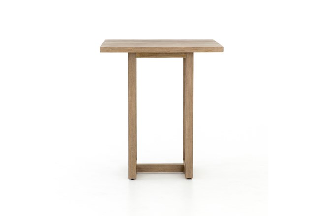 Washed Brown Outdoor Bar Table - 360