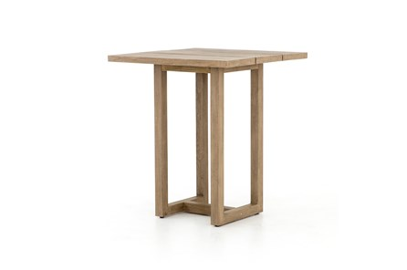 Washed Brown Outdoor Bar Table