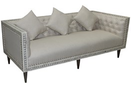 Bone Inlay Diamond Pattern Sofa