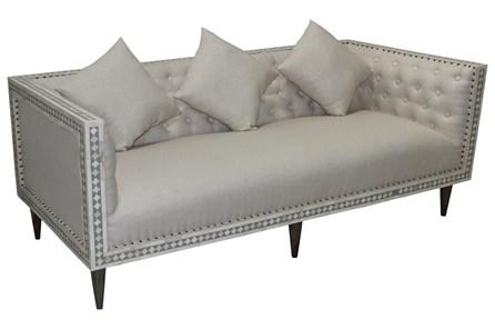 Bone Inlay Diamond Pattern Sofa