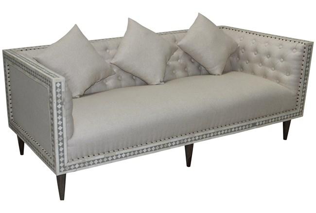 Bone Inlay Diamond Pattern Sofa  - 360
