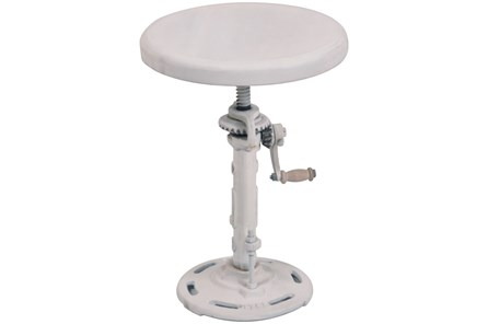 White Wash Adjustable Bar Stool