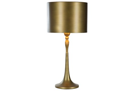 Table Lamp-All Over Bronze Metal