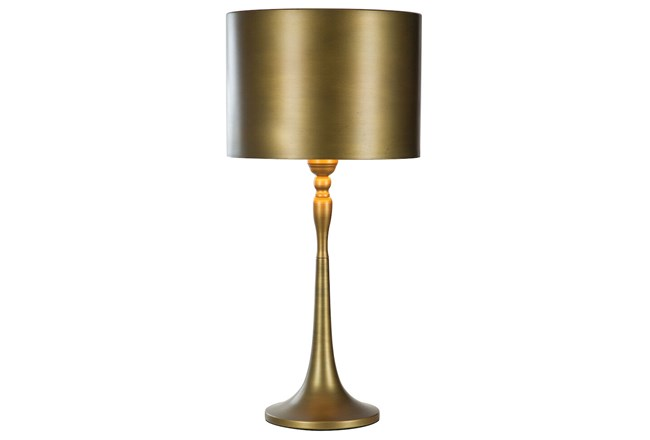 Table Lamp-All Over Bronze Metal  - 360