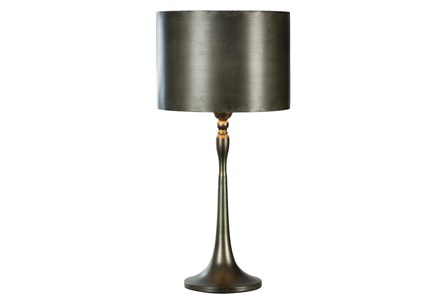 Table Lamp-All Over Antique Nickel