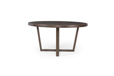 Dark Highlighted Acacia Round Dining Table Base