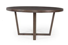 Dark Highlighted Acacia Round Dining Table
