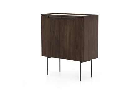 Warm Brown Bar Cabinet