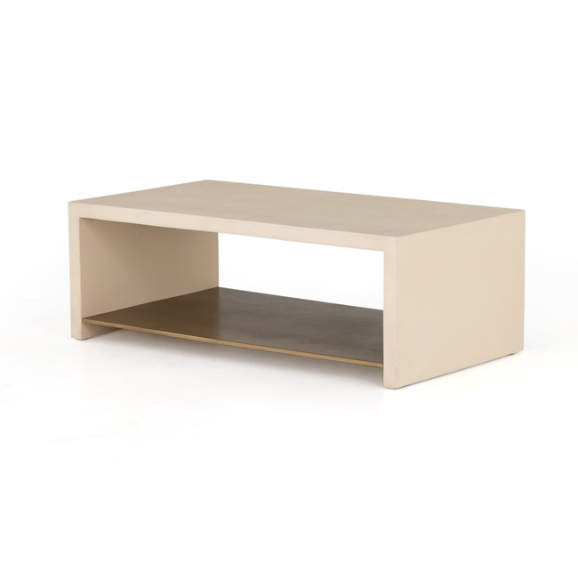 Parchment White Coffee Table - 360