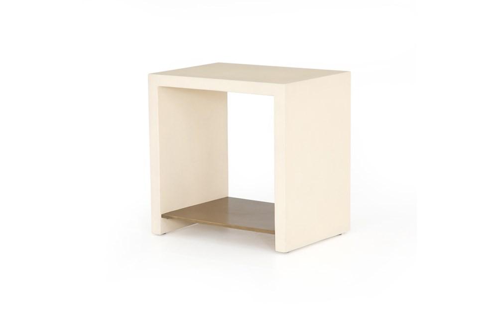 Parchment White End Table