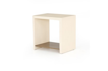 Parchment White End Table