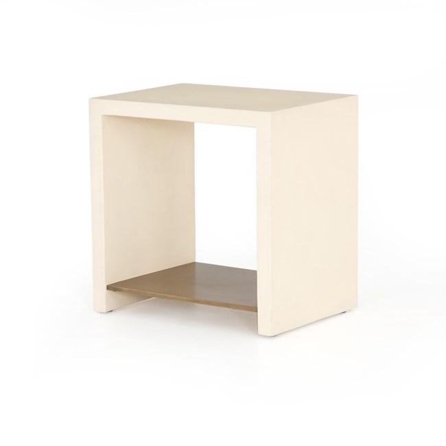 Parchment White End Table - 360