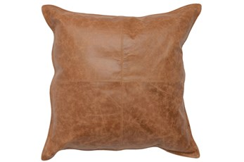 Accent Pillow-Chestnut Leather 22X22