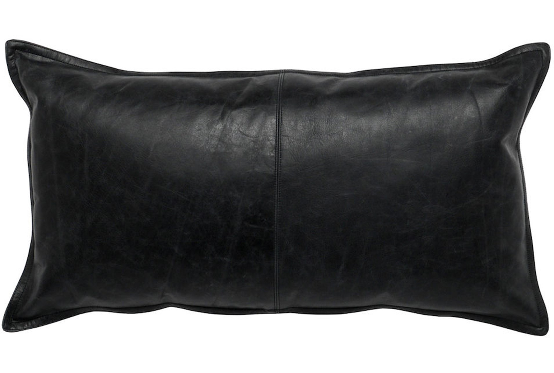 Accent Pillow Black Leather 14x26 Living Spaces