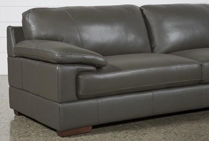 Pleasant Nico Dark Grey Leather Sectional With Right Arm Facing Armless Storage Chaise Customarchery Wood Chair Design Ideas Customarcherynet