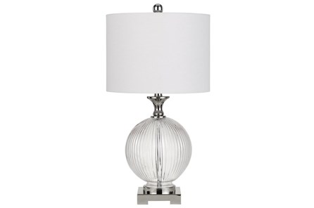 Table Lamp-Globe Ribbed Glass - Main