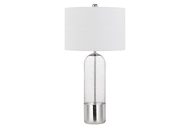 Table Lamp-Clear Bubbled Glass  - 360