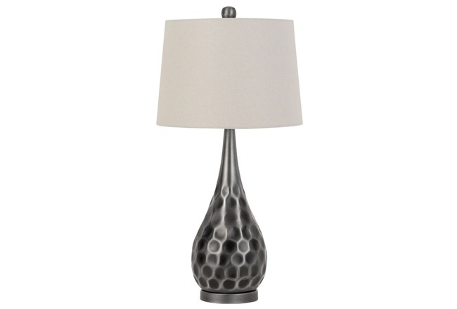 Table Lamp Silver Hammered Metal Living Spaces