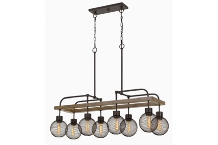 Pendant-Metal & Mesh 8 Light