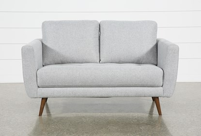 Astounding Ginger Grey Loveseat Gmtry Best Dining Table And Chair Ideas Images Gmtryco