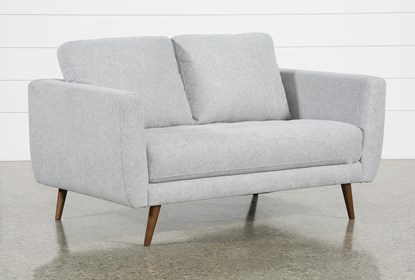 Wondrous Ginger Grey Loveseat Gmtry Best Dining Table And Chair Ideas Images Gmtryco