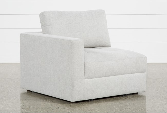 Mikhail Grey Left Facing Chair - 360