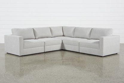 Remarkable Mikhail Grey 5 Piece Sectional Caraccident5 Cool Chair Designs And Ideas Caraccident5Info