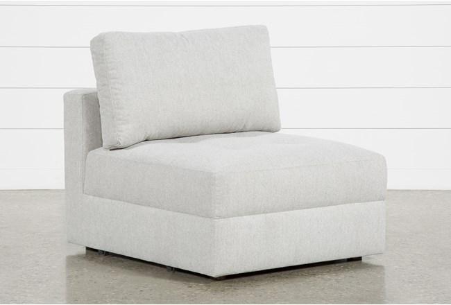 Mikhail Grey Armless Chair - 360