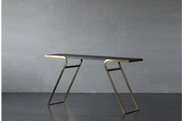 Elm And Steel Sofa Table