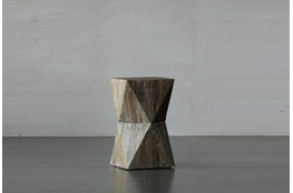 Faceted End Table