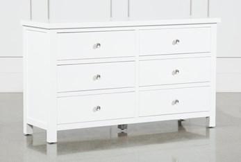Larkin White 6 Drawer Dresser