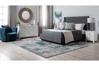 Larkin White Eastern King Panel 3 Piece Bedroom Set
